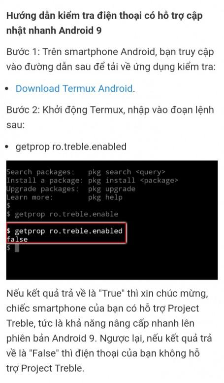 cách kiểm tra các dòng máy có thể lên Android P (9 0) - Mẹo và thủ