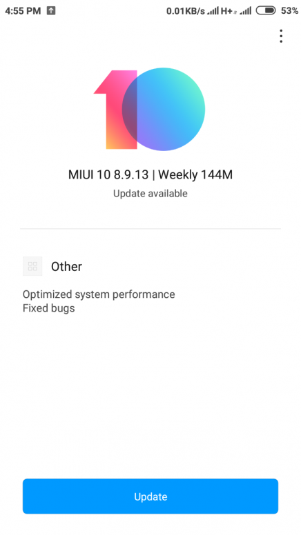redmi note 5a prime miui 10 global beta rom 8 9 13 update