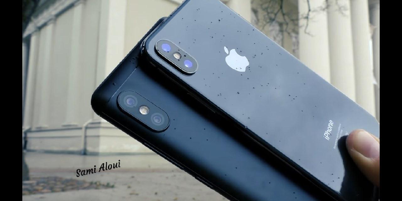 iphone x и xiaomi redmi note 5