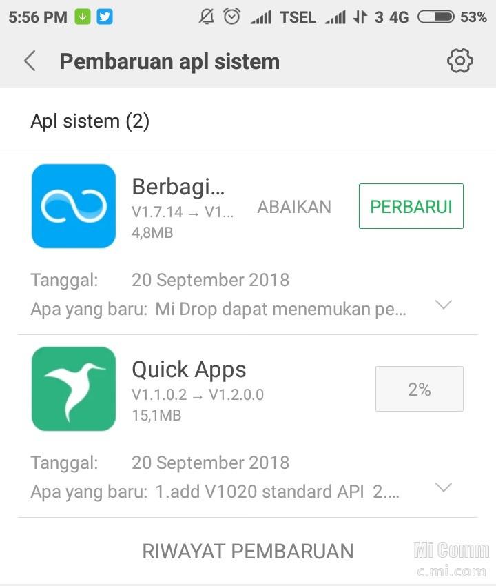 Ada Yang Tau Fungsi Dari Quick Apps Redmi Note 5a Mi Community Xiaomi