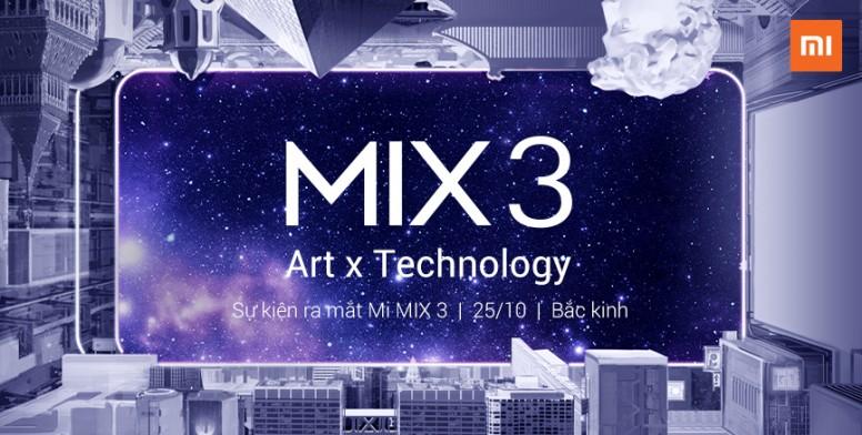 Mi MIX 3 sẽ được giới thiệu vào 25/10 | Không chỉ đơn giản
