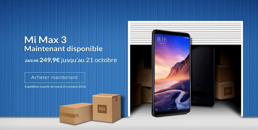 Le MI MAX 3 arrive officiellement en France aujourd'hui!!