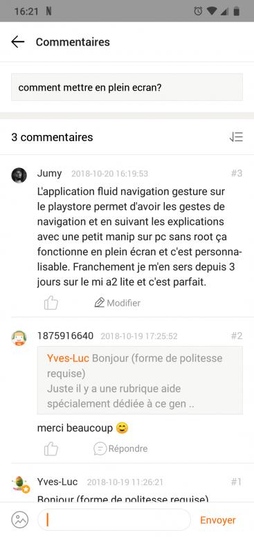 Comment Mettre En Plein Ecran Serie Mi A Mi Community Xiaomi