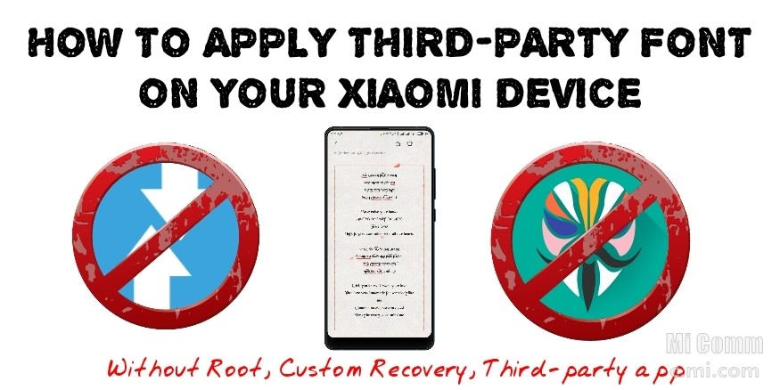 How to apply third-party font on your Xiaomi device without root or