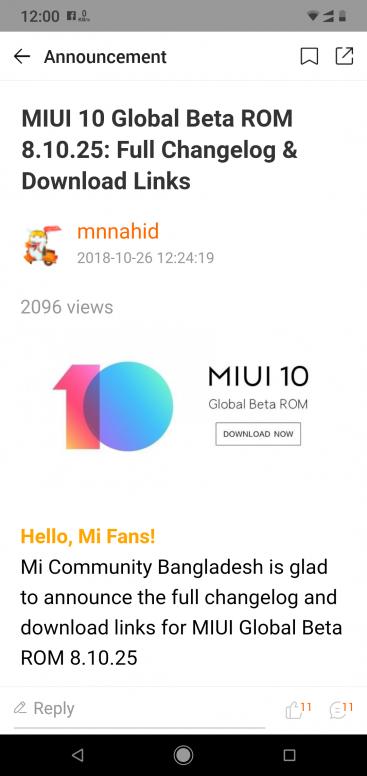 MIUI 10 update applicable? - Mi A2 Lite - Mi Community - Xiaomi