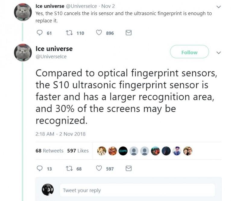 A new source confirms the Qualcomm UD fingerprint reader for