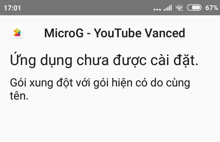 khi cài đặc app MicroG - Youtube Vancede không được, có cách nào chỉ