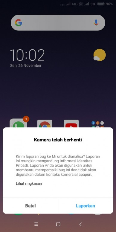 Cara Mengatasi Kamera Gagal Redmi S2 Mi Community Xiaomi