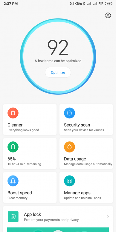 Facebook Cleaner Feature In MIUI Security App - MIUI General