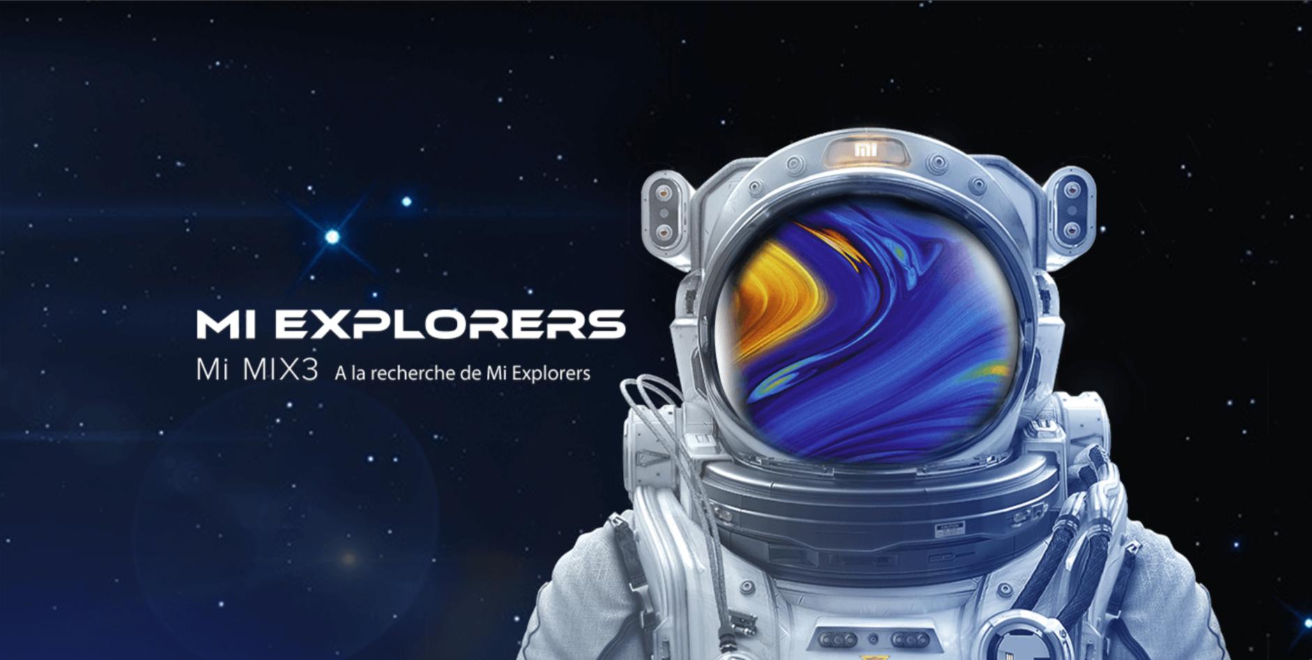 Mi Explorer Edition Mi MIX 3 arrive !!