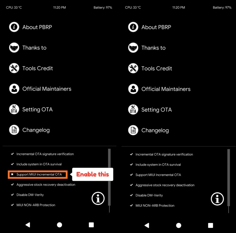How to enable OTA update from PitchBlack Recovery - Tips and Tricks