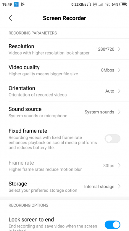 MIUI 10 Stable] Help! Screen Recorder 60fps is possible? - Redmi