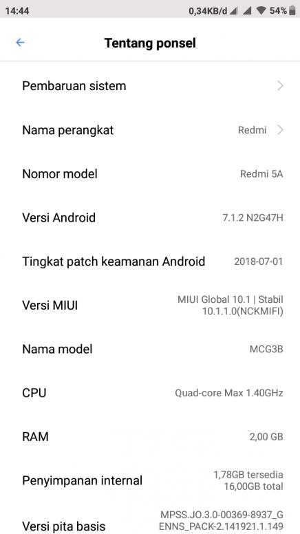 Redmi 5A update OS ke oreo gimana caranya? - Redmi 5A - Mi