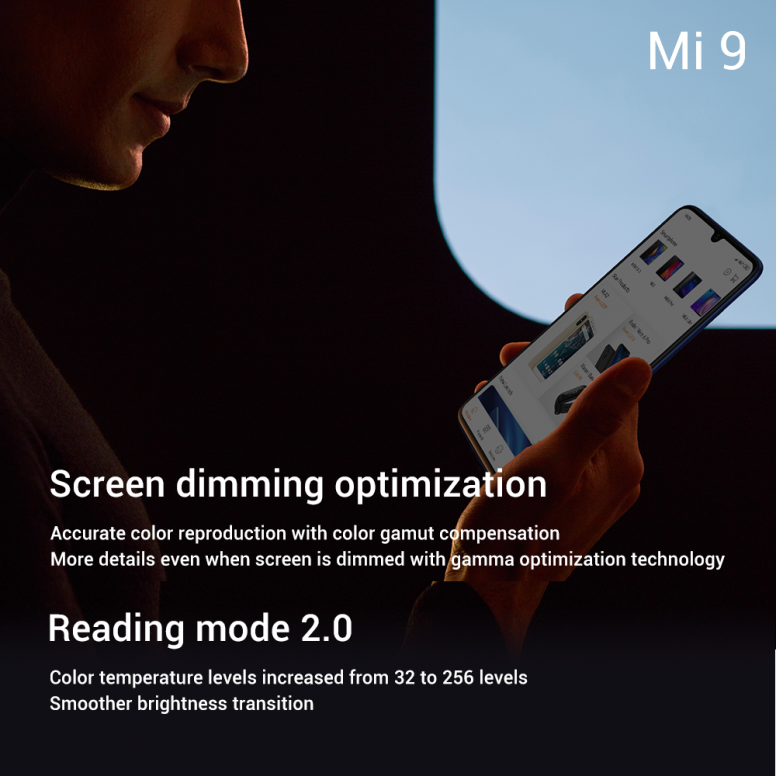 Mi 9's screen. You asked for it, we #MakeItHappen