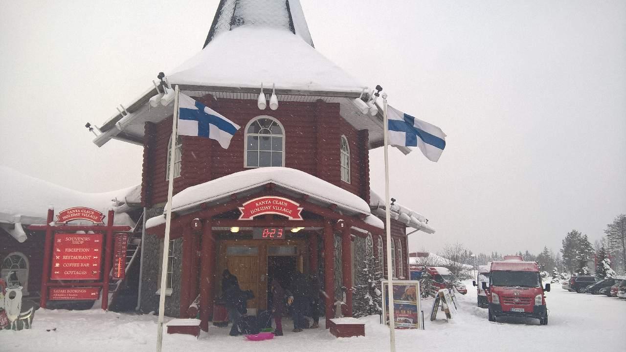 Casa Babbo Natale Rovaniemi Finlandia.Rovaniemi Lapponia Casa Babbo Natale Santa Claus Finlandia