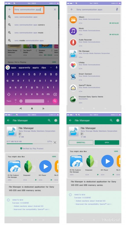 Download all Sony Communication Apps from Google Play Store! [Root
