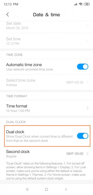 MIUI Tips & Tricks #1] How To Enable Dual Clock Feature On