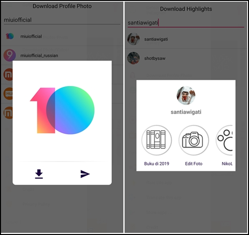 Mi ART] StorySaver+ - Easy Way To Save Instagram Profile Picture