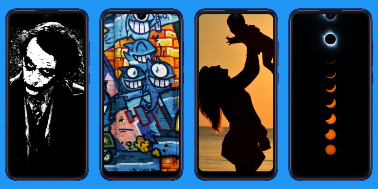 Dot Notch Wallpapers For Redmi Note 7 Series Designed By Mi Fans