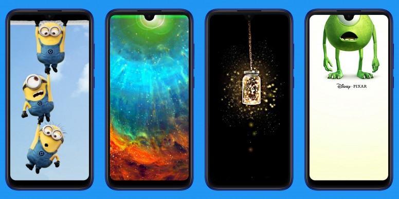 Dot Notch Wallpapers For Redmi Note 7 Series Designed By Mi