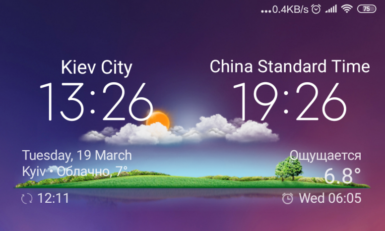 Dual Clock Weather widget for your Xiaomi phone! - Mi Max 3