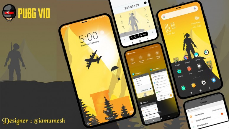 PUBG V10 Theme Download From Theme Store [Zhuti link