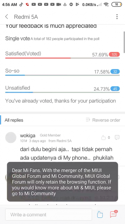 LOL Miui forum not Woking for Android - Redmi 5A - Mi