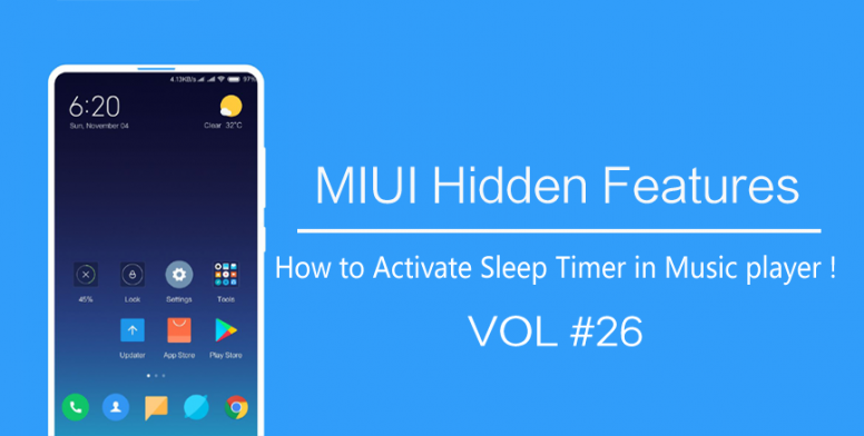 MIUI Hidden Features #26] How to Activate Sleep Timer in Music