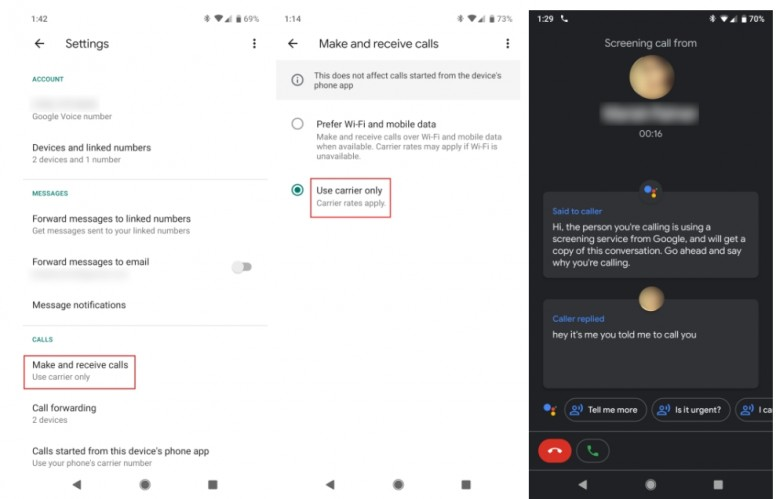 How to get Call Screen to work with your Google Voice number