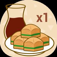 X1 plate Baklava