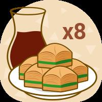 x8 plate Baklava