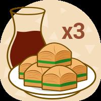 x3 plate Baklava