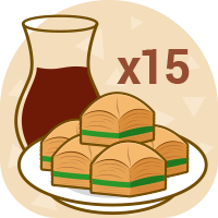 x15 plate Baklava