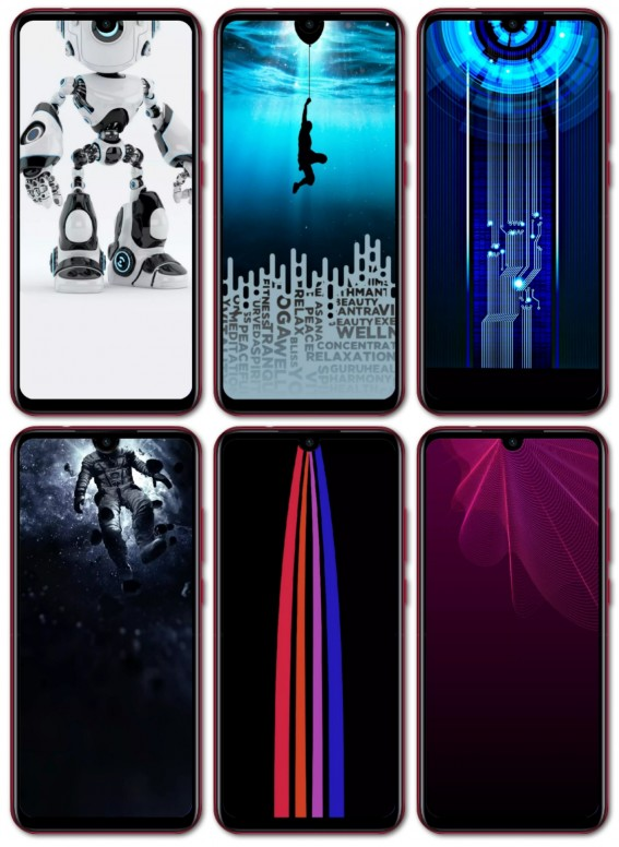 Redmi Note 7 and Redmi 7 Special Dot Notch Wallpapers