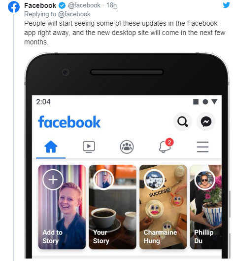 Facebook Is Getting a New Redesign for 2019 - Chat - Mi