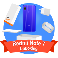 فتح علبة هاتف Redmi Note 7
