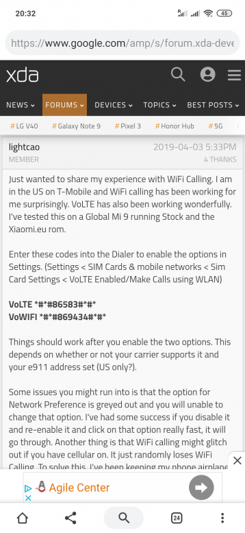 VOLTE on Xiaomi Mi 9 - Mi 9/SE/T/T Pro - Mi Community - Xiaomi