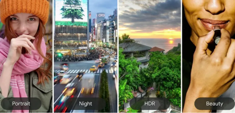 Muestra de fotos tomadas con CameraX en modo Retraro, Noche, HDR y Belleza