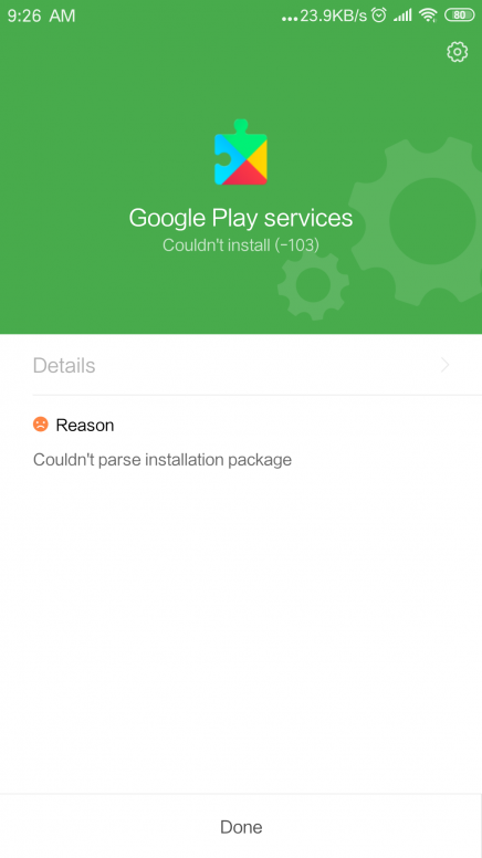 Not able to update or install any android app from google