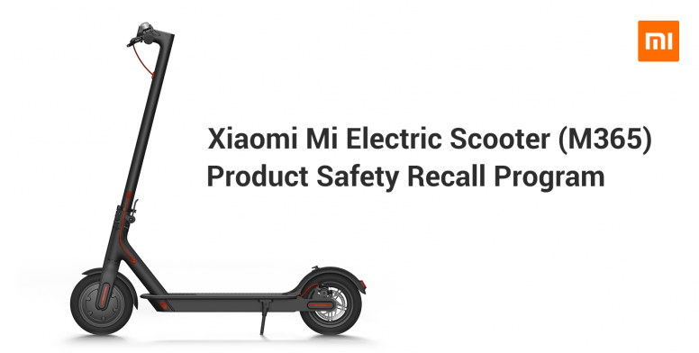 Image result for Mi Electric Scooter (M365) Recall Notice