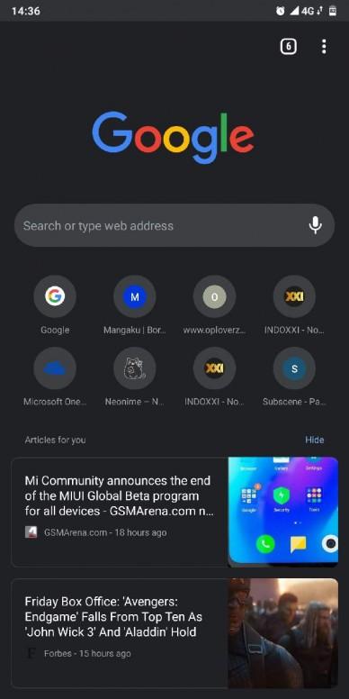 Google Chrome versi Dark Mode, udah ada yg nyoba? - Redmi