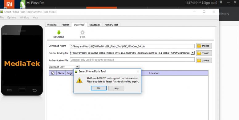 MiFlashPRO 3 3 518 58 - tool not working   - Redmi 6/6A/Pro - Mi