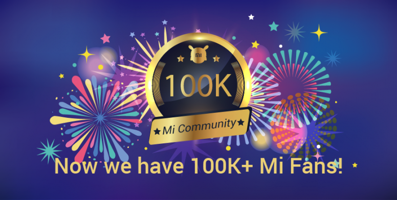 Announced] We are now a family of 100K+ Mi fans! Vote
