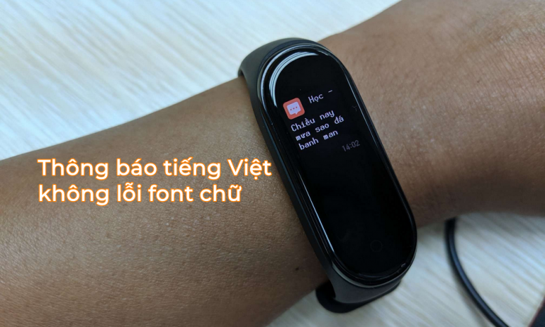 Mi Band 4: Cách cài đặt tạm thời để hiển thị thông báo tiếng Việt không lỗi font chữ