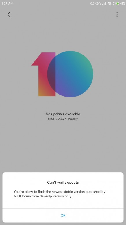 MIUI 10 Global Stable ROM V10 1 2 0 OCKMIFI for Redmi 5A Released