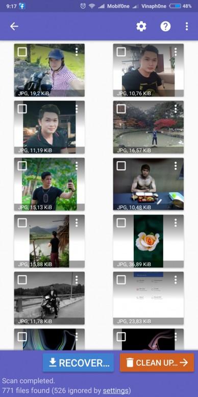 [MIUI Tài nguyên #1][DiskDigger] Khôi phục hình ảnh đã xóa trên điện thoại