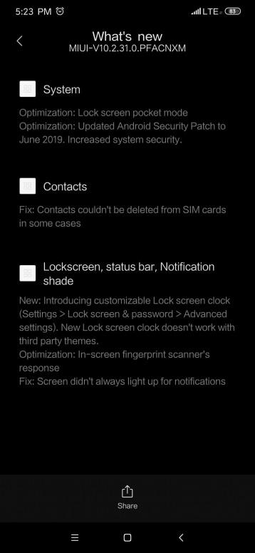 New Chinese rom update MIUI 10 2 31 0 - Mi 9/SE/T - Mi Community