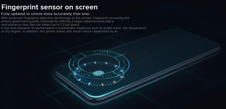 小米 A3 是 A 系列当中第一款采用 AMOLED 的产品,同时支持屏下指纹识别ji'shu