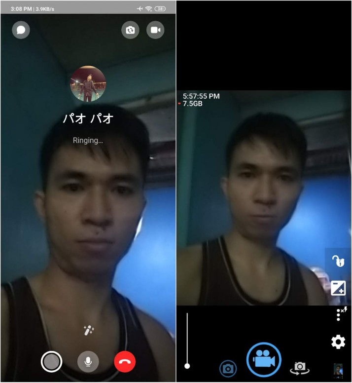 The reason why front cam gives DARK video input in FB Messenger