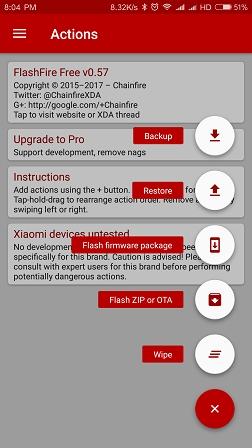 MI ART] [Root] Flash Fire - A Powerful Tool for Flashing OTA - App